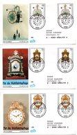 """BRD 5 Schmuck-FDC """"Wohlfahrt: Kostbare Alte Uhren..."""" Mi. Je 2x 1631/33+ 1634/35 ESSt 15.10.1992 BERLIN 12 - [7] Federal Republic"""