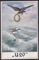 AK / WK 2 /  U29 / U-Boot / Adler / Flagge   ...  ( E 440 ) - Weltkrieg 1939-45