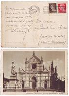 Firenze Chiesa Di Santa Croce E Monumento A Dante - 117 Viaggiata 1937 Anni '30 Innocenti Ed. (C) - Firenze