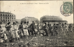 Cp Baccarat Lothringen Meurthe Et Moselle, 20e Bataillon De Chasseurs A Pied, Theorie Sur Le Tir - Francia