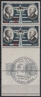 REUNION YT N°61 BLOC DE DEUX VERTICAL NEUFS  ** BORD DE FEUILLE OBLITERATION PREMIER JOUR(FDC) SUR BDF - Réunion (1852-1975)