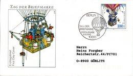 """BRD Schmuck-FDC """"Tag Der Briefmarke"""" Mi. 1638 ESSt 15.10.1992 BERLIN 12 - [7] Federal Republic"""