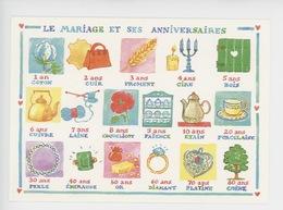 Louise Deletang Illustrateur Le Mariage Et Ses Anniversaires (cp Vierge) Fête Anniversaire - Andere Zeichner