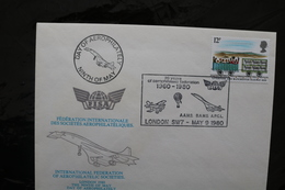 Great Britain Intnl Federation Aeophilately Societiess FISA With Concorde Special Cancel 1980 A04s - Concorde