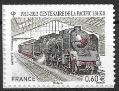 France 2012 Timbre Adhésif Neuf** N°711 Train Locomotive Pacific 231K8 Cote 3,00 Euros - Autoadesivi
