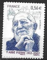 France 2010 Timbre Adhésif Neuf** N°389 Abbé Pierre Cote 5,00 Euros - Adhesive Stamps
