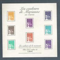 France, Bloc Feuillet N° 44, BF 44, 3443, 3444, 3445, 3446, 3447, 3449, 3455, 3457, Bloc Neuf **,TTB, Marianne De Luquet - Blocs & Feuillets