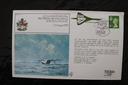 Great Britain 40th First British Air Mail Service Across Atlantic With Concorde Special Cancel 1979 A04s - Concorde