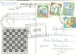 """""""TORNEO DI SCACCHI PER CORRISPONDENZA""""-1988-CARTOLINA SCACCHISTICA -RACCOMANDATA-CASTIGLIONE (BOLOGNA)-MEZZANO(RAVENNA) - Scacchi"""
