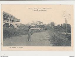 COTE D IVOIRE RUE DE BINGERVILLE CPA BON ETAT - Côte-d'Ivoire