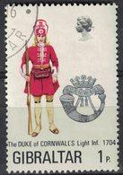 Gibraltar 1972 Oblitéré Used Duke Of Cornwall's Infanterie Légère Duc De Cornouailles SU - Gibraltar
