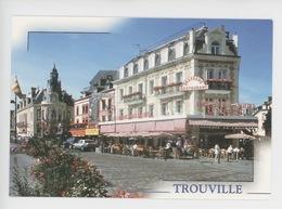 Trouville : Le Quai F. Moureaux Et Ses Célèbres Brasseries (cp Vierge N°4273) - Trouville