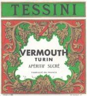 ETIQUETTE - ALCOOL - VIN - VERMOUTH TESSINI - TURIN - APERITIF SUCRE - Etiquettes