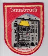 Ecusson Tissu - Autriche - Innsbrück - Goldenes Dachl - Blason - Armoiries - Héraldique - Ecussons Tissu