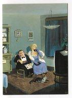 Rudi Hurzlmeier Watch Clock Cat Uhr Jumelles Binoculars Chat Horloge Surrealist Inkognito Postkarte Postcard Carte - Altre Illustrazioni