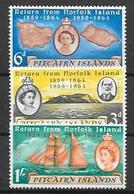 Pitcairn  N° 32/34 YVERT NEUF * - Timbres