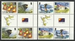 FALKLAND ISLANDS   2003   NEW  IS.  -  PENGUIN,CARACARA,FLOWER -   SET  GUTTER PAIRS  MNH. - Non Classés