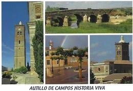 AUTILLOS DE CAMPOS, Hª VIVA. TARJETA PREFRANQUEADA ESPAÑA. TARIFA A. ENTERO POSTAL. Postcard Paid Postage. - Enteros Postales