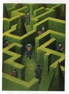Soizick Meister Labyrinth Maze Labyrinthe Humor Surrealist Inkognito Postkarte Postcard Carte - Altre Illustrazioni