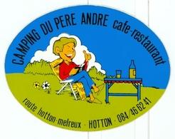 Hotton - Camping Du Père André - Autocollant - Autres Collections