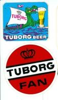 Tuborg Beer - 2 Autocollants - Andere Verzamelingen