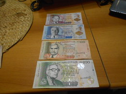 MAURITIUS   25 50 100 200 RUPEES BILLETS LOT - Mauritius