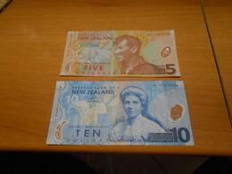 NEW  ZEALAND    5  AND  10  DOLLARS    BILLETS  SET - New Zealand