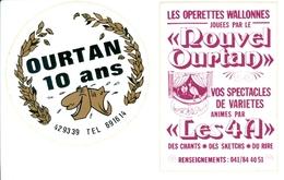 Ourtan - Wallon -  2 Autocollants - Andere Verzamelingen