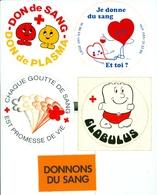 Croix Rouge - Donneurs De Sang - Lot D'autocollants - Autres Collections