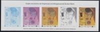 """Gustav Klimt, Etapes Successives De L'impression Héliogravure De """"Le Baiser"""" 3461 Bloc Gommé Neuf - Blocs & Feuillets"""