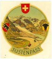 Suisse - Sustenpass - Gottard - Olten - Autocollants - Andere Verzamelingen