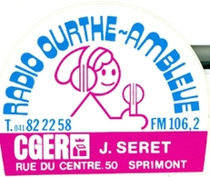 Ourthe-Amblève Radio - Autocollant - Autres Collections