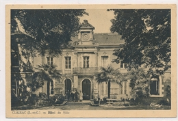 CPA Clairac Hôtel De Ville CIM Circulée 1945 Timbres Taxe - Autres Communes