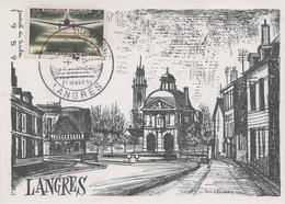 Carte  Locale  1er  Jour   FRANCE   Journée  Du  TIMBRE   LANGRES   1959 - Giornata Del Francobollo