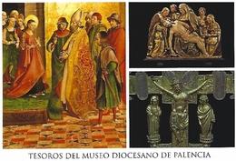 TESOROS MUSEO DIOCESANO DE PALENCIA. TARJETA PREFRANQUEADA ESPAÑA. TARIFA A. ENTERO POSTAL. Postcard Paid Postage. - Enteros Postales