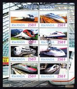 TRAINS - Speed Trains, Rwanda 2012 // Private Issue - Fdc - Trains