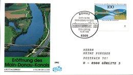 "BRD Schmuck-FDC ""Eröffnung Des Main-Donau-Kanals"" Mi. 1630 ESSt 10.9.1992 BONN 1 - [7] Federal Republic"