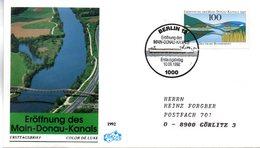 "BRD Schmuck-FDC ""Eröffnung Des Main-Donau-Kanals"" Mi. 1630 ESSt 10.9.1992 BERLIN 12 - [7] Federal Republic"