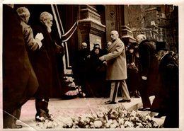 12257  PHOTO MARECHAL P.PETAIN  OBSEQUES DE MONSIEUR PAUL BOURGET EGLISE DE SAINT FRANCOIS XAVIER PHOTO MEURISSE  1936 - Militaria