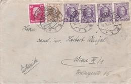 Enveloppe Houyoux Et Timbre Allemand Cachet Allemand Düsseldorf Wien Autriche - 1922-1927 Houyoux