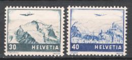 Svizzera 1948 Posta Aerea Unif.A42/43 */MH VF/F - Unused Stamps