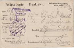 Ar RC, 161 : CPFM Prisonnier De Guerre Français Müncheberg  25/5/1918 - Guerra Del 1914-18