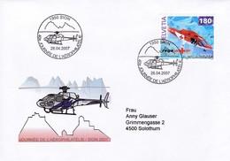 Mi: 1784 / Zu: 1040 Helikopter Agusta A-109-.K2 . 1950 Sion, 40e Journée De L`Aérophilatélie. 28.04.2007 - Poste Aérienne