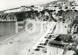 1961 REAL PHOTO FOTO POSTCARD ESPLANADA PRAIA ALBUFEIRA ALGARVE PORTUGAL POSTAL CARTE POSTALE - Leiria