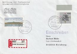 Bundesrepublik Deutschland / 1995 / Mi. 1805 MiF Auf Reco-Brief Ex Bruchkoebel, Eroeffnung Postagentur (AE69) - [7] Federal Republic