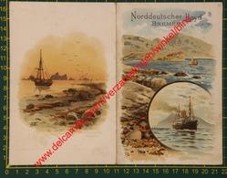 Norddeutscher Lloyd Bremen - Dampfer Prinzess Alice - 1904 - Menus