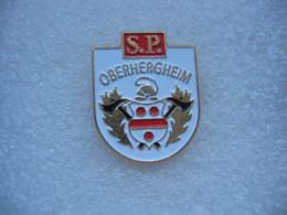 Pin's Des Sapeurs Pompiers De La Commune De OBERHERGHEIM (Dépt 68) - Brandweerman