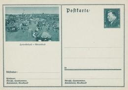 Carte Entier Postal Ganzsache Postkarte Leopoldshall  Strandbad - Stamped Stationery