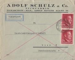 GG R-Brief Mef Minr.2x 78 Tomaschow 7.9.44 Gel. Nach Wien - Gobierno General