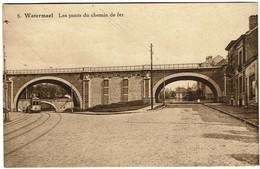 Watermael - Les Ponts Du Chemin De Fer - Edit. Photo Belge Lumière - 2 Scans - Watermael-Boitsfort - Watermaal-Bosvoorde